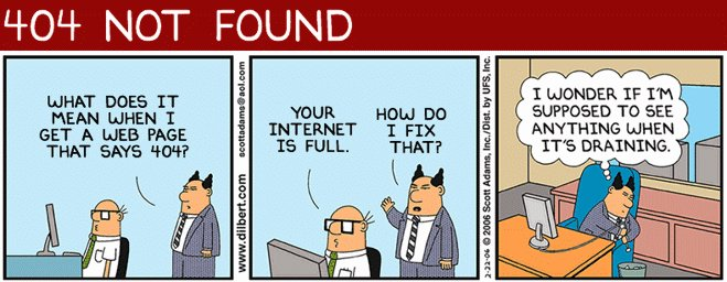 Bild: Dilbert 404 NOT FOUND